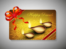 Gift card for Deepawali or Diwali festival. In India. EPS 10