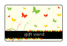 Gift card design Royalty Free Stock Photo