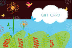 Gift Card design. A illustration of card design for different use Stock Photos