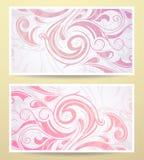 Gift card design Royalty Free Stock Photos