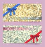 Gift card design Stock Photos