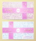 Gift card design Stock Photo