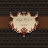 Gift Card Design in Vintage style. royalty free illustration