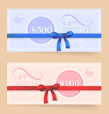 Gift card design Royalty Free Stock Image