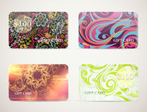 Gift card designs set Stock Photography