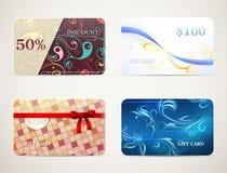 Gift card designs set Stock Photo