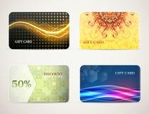 Gift card designs set Stock Photos