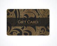 Gift card / Discount card / Business card. Scroll Stock Photos