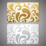 Gift card / Discount card / Business card. Scroll  Royalty Free Stock Photos