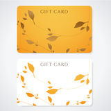 Gift card / Discount card / Business card. Sprigs Royalty Free Stock Photos