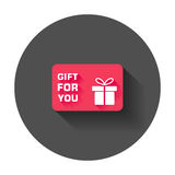 Gift card. Royalty Free Stock Photography