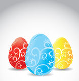 GIft card of Easter eggs Stock Image