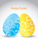 GIft card of Easter eggs Royalty Free Stock Photo
