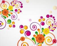 Gift card. Floral design background. Stock Image