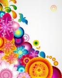 Gift card. Floral design background. Stock Images