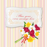 Gift card with Flower bouquet. Stock Photography