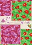 Gift Card Flower Seamless Pattern Set_eps Royalty Free Stock Image