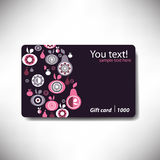 Gift card with fruits Royalty Free Stock Photography