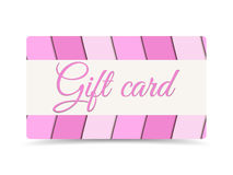 Gift card. Gift card pink color. Gift card with paper waves.  Royalty Free Stock Images
