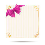 Gift card with golden swirl frame Stock Photo