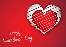 Gift card. Happy Valentines Day Stock Photos