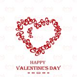 Gift card with a heart. Happy Valentine`s Day. Elegant design element. Vector illustration royalty free illustration