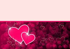 Gift card with hearts Stock Photo