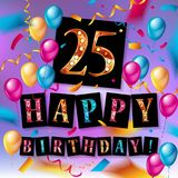 Gift card. Illustration. 25 years old. Vector illustration Royalty Free Stock Photos