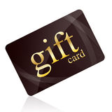 Gift card. Isolated on white Stock Photography