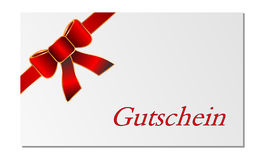 Gift card isolated Stock Images