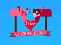 It`s gift card of about love, symbol , vector. stock illustration
