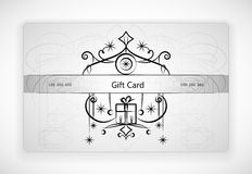 Gift Card With Ornament. Royalty Free Stock Photography