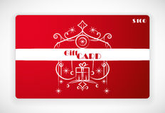 Gift Card With Ornament. Illustration Stock Illustration
