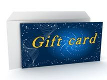 Gift card over white background Royalty Free Stock Image