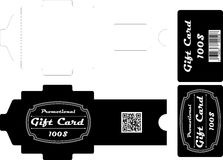 Gift card pack Royalty Free Stock Photos