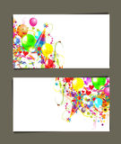 Gift card with place for your text Royalty Free Stock Photos