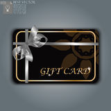 Gift card with realistic ribbon Stock Photos