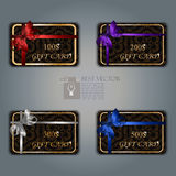 Gift card with realistic ribbon Royalty Free Stock Image