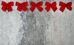 Gift card with red bows Stock Photography