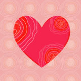 Heart card Royalty Free Stock Photos