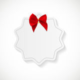 Gift Card with Red Ribbon and Bow. Vector illustration. EPS10 Royalty Free Stock Photography