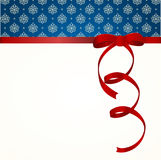 Gift Card With Red Ribbon And A Bow. Royalty Free Stock Photos