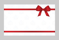 Gift Card With Red Ribbon And A Bow Royalty Free Stock Photo