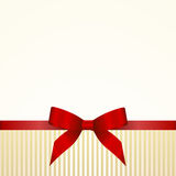 Gift  Card with Red Satin Gift Bow Royalty Free Stock Photo