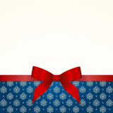 Gift  Card with Red Satin Gift Bow Royalty Free Stock Images