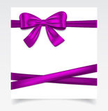 Gift card with ribbon Stock Photography