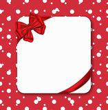 Gift card with ribbon Royalty Free Stock Image