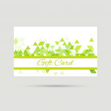 Gift card with a round badge Stock Image