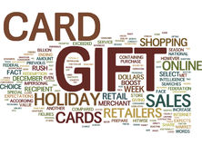 Gift Card Rush Will Boost Holiday Sales Figures Text Background Word Cloud Concept Stock Photos