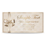 Gift Card, Sertificate, Coupon, Invitation Royalty Free Stock Images